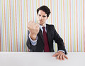 Agressive businessman Stock Photo