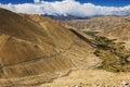 Agricultura en desierto en la manera al lago pangong de leh ladakh la india Fotografía de archivo
