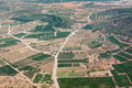 Agricultural area of spain aerial view the Royalty Free Stock Photo
