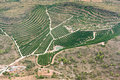 Agricultural area of spain aerial view the Royalty Free Stock Photography