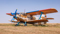 Agricultural biplane aircraft Royalty Free Stock Photos