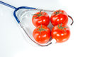 Agricultural diagnose tomato stethoscope dna genetic modification Stock Photos