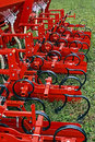 Agricultural equipment detail for agriculture presented to an exhibition Royalty Free Stock Image