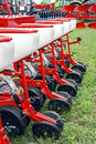 Agricultural equipment detail for agriculture presented to an exhibition Royalty Free Stock Photo