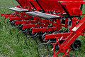 Agricultural equipment detail for agriculture presented to an exhibition Royalty Free Stock Photography