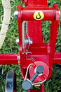 Agricultural equipment detail part from one for agriculture with fixing elements Stock Photography