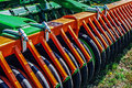 Agricultural equipment details for agriculture presented to an exhibition Royalty Free Stock Image