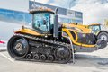 Agricultural machinery exhibition tyumen russia april iv specialized and equipment tractor demonstration on platform open Stock Photography