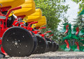 Agricultural machinery in fair Stock Photography