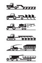 Agricultural machinery icon set vector illustration Royalty Free Stock Images