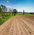 Agricultural ploughed field prepared for planting Stock Image