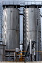 Agricultural silo outdoors Stock Images