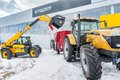 Agricultural wheel loader tyumen russia april iv specialized exhibition machinery and equipment demonstration Stock Photo