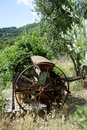 Agriculture agricultural artefact in tuscan village italy Royalty Free Stock Image