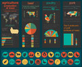 Agriculture animal husbandry infographics vector illustrations illustrationstry info graphics illustration Royalty Free Stock Images