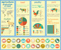 Agriculture animal husbandry infographics vector illustrations illustrationstry info graphics illustration Stock Images
