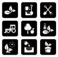 Agriculture black icon set