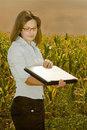 Agriculture engineer in field Stock Photography