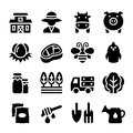 Agriculture Farm icon set