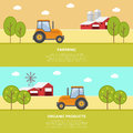 Agriculture and farming agribusiness rural landscape eps Royalty Free Stock Images