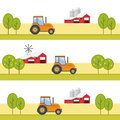 Agriculture and farming agribusiness rural landscape eps Royalty Free Stock Photo