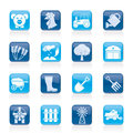 Agriculture and farming icons vector icon set Stock Photography