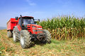 Agriculture, farming  tractor Royalty Free Stock Photo