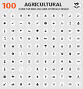 Agriculture icon set