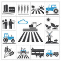 Agriculture icons vector set for you design Stock Photos