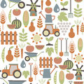 Agriculture pattern seamless with icons Royalty Free Stock Photo