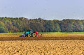 Agriculture - Plough up the field Royalty Free Stock Photos