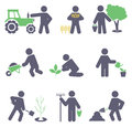 Agriculture set icons for you design Stock Photography