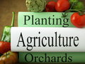 Agriculture textbooks Stock Photography