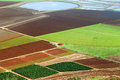 Agriculture valley bird s view on israel Stock Photos