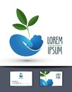 Agriculture vector logo design template. farm or