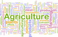 Agriculture word cloud Royalty Free Stock Image