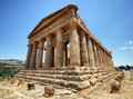 Agrigent famous greek temple at sicilia italy Stock Image