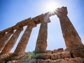 Agrigento famous greek temple at agrigent sicilia italy Stock Photography