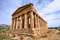 Agrigento sicily island in italy famous valle dei templi unesco world heritage site greek temple remains of the temple of Royalty Free Stock Photography