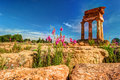 Agrigento, Sicily. Temple of Castor and Pollux Royalty Free Stock Photo