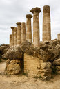 Agrigento, Temple of Hercules Stock Photo
