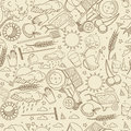 Agronomy seamless retro vector illustration Royalty Free Stock Photo