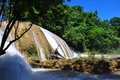 Agua azul waterfall chiapas mexico waterfalls near palenque Royalty Free Stock Photos
