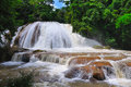 Agua Azul Waterfall, Mexico Royalty Free Stock Photography
