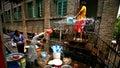 Agua-salpicar festival Imágenes de archivo libres de regalías