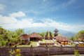 Agung volcano bali indonesia view from pura lempuyang Stock Image