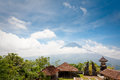 Agung volcano bali indonesia view from pura lempuyang Stock Photography