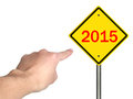 Ahead image to use in an optimistic view on year can be also used for review of the year Stock Images