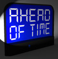 Ahead of time digital clock shows earlier than expected showing Royalty Free Stock Images