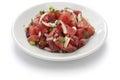 Ahi poke hawaiian raw tuna salad Stock Image